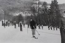 70. a 80. léta v lipenském lyžařském areálu na Kramolíně.