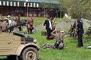 Krumlovští si v sobotu připomněli konec druhé světové války i historickou ukázkou bitvy.