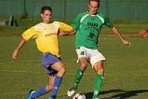 Fotbalové utkání A skupiny oblastní I. B třídy / FK Slavoj Český Krumlov B - Sokol Křemže 1:4 (0:3).
