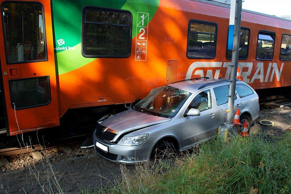 Nehoda se stala v neděli na železničním přejezdu v Kájově.