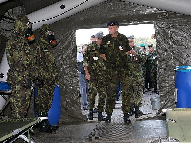 Cvičení jednotek civilní obrany Boleslavská hradba 2009 ve Vojenském výcvikovém prostoru Boletice.