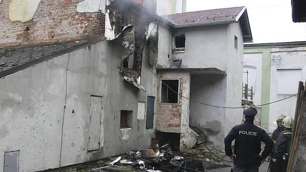 Požár domu ve Větřní.