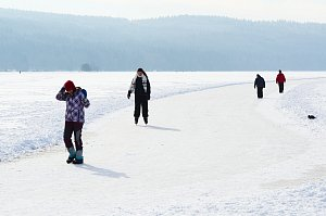Ledová magistrála mezi Frymburkem a Lipnem bude snad brzy otevřena