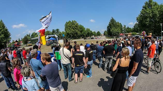 Rychlostní zkoušky Rallye Český Krumlov na českobudějovickém výstavišti v uplynulých letech pokaždé přilákaly hodně příznivců motorismu.