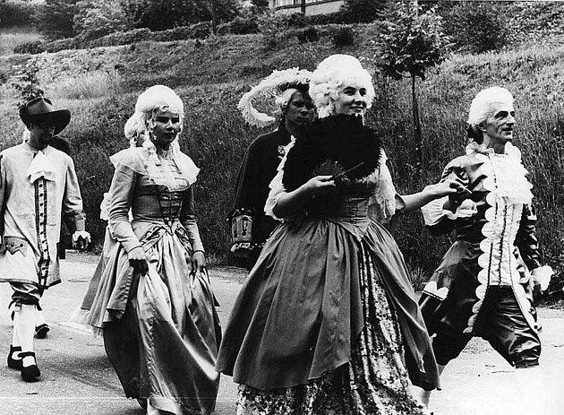 Slavnosti pětilisté růže v Českém Krumlově v roce 1968.