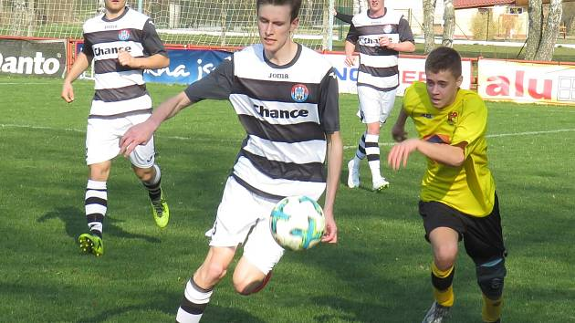 I.B třída (skupina A) – 16. kolo: FK Spartak Kaplice (bíločerné dresy) – TJ Smrčina Horní Planá 16:0 (9:0).