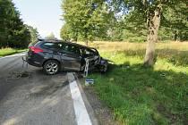 Nehoda u Frymburku.