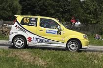 Při Jiřím Sojkovi stálo na Rally Vysočina (na snímku) štěstí, když se mu podařilo i s poškozeným motorem odjet pět erzet a v cíli nakonec obsadit pěkné čtvrté místo ve třídě.
