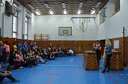 Projektový den pro deváťáky v Obchodní akademii v Kaplici.