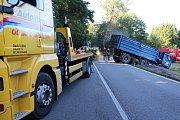 Nehoda u Netřebic na několik hodin zablokovala dopravu na E 55.