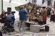 To, co v pohádce vidět nebylo: kamery, kolejnice nebo mikrofon. Vše v krumlovském Parkánu.