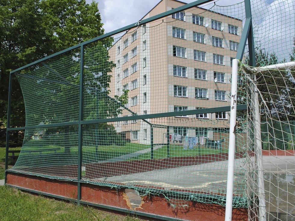 Veřejné hřiště na fotbal ve Větřní.
