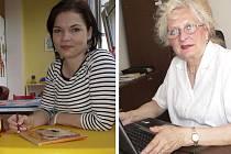 Dvě literátky, které slaví narozeniny 23. srpna - Miluše Vítečková z Chlumečku (vlevo) a Helena Braunová.
