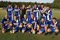 Vítězové 1. ročníku Memoriálu Milana Prokeše staršího – tým pořádajícího FC Velešín.