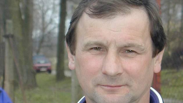Trenér kaplického Spartaku Jaroslav Křiva.