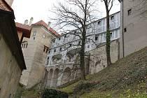 Plášťový most zámku v Českém Krumlově.