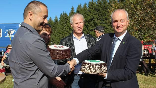 Přátelské setkání na hranici u Horního Dvořiště  k 30. výročí pádu železné opony.