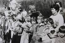 První máj v Českém Krumlově v roce 1984.