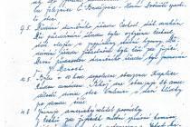 Prvních z několika málo listů původní kroniky obce Omlenice z roku 1945.