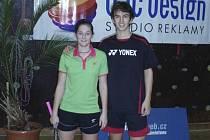 Sehranost nově složeného smíšeného páru Lucie Černá a Matěj Hliničan (na snímku) se postupně lepšila a česko-slovenská dvojice nakonec při juniorském MMČR vybojovala výborné stříbro.