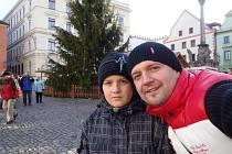 Daniel Kotek se svým synem Danielem.