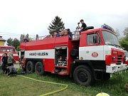 Jarního klání SDH v požárním útoku se zúčastnili hasiči z Velešína, Zubčic, Věžovaté Pláně a pořádajících Skřidel.