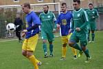 I.B třída (skupina A) - 10. kolo: SK Zlatá Koruna (modré dresy) - FK Nová Ves / Brloh 0:3 (0:1).