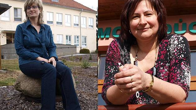 Vlevo ředitelka kaplického domova pro seniory Vladimíra Holczerová, vpravo Renata Březinová, jež šéfuje Domovu důchodců v Horní Plané.