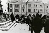 Listopad 1989 v Českém Krumlově.