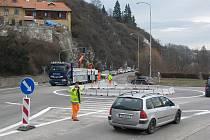 Vzpomínka čtyři roky stará: Další kurhový objezd v Českém Krumlově, tentokrát u Vošahlíkova mlýna.