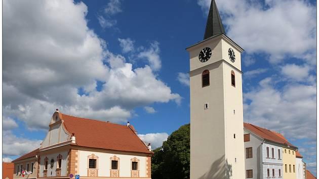 Kostel sv. Václava ve Velešíně.