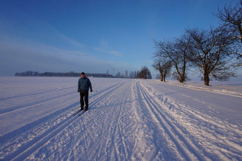 Velký zájem návštěvníků a ideální podmínky hlásí také běžkařské stopy na pomezí Táborska a Vysočiny.
