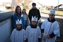 Tříkráloví koledníci v Dolním Třeboníně.
