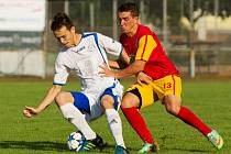 Přerovští fotbalisté (v bílém) proti Frýdlantu nad Ostravicí