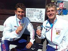 Kojetínský kanoista Jiří Minařík (vpravo) se na deblkánoi s Jiřím Zalubilem stal juniorským mistrem Evropy.