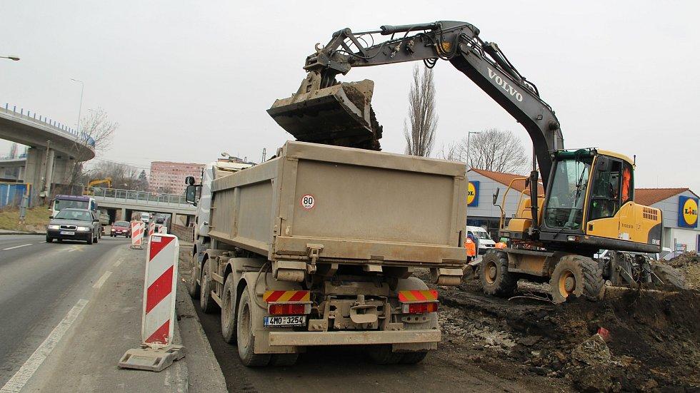 Stavební práce v Předmostí, 8. března 2021
