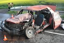 Srážka dvou aut u Polkovic