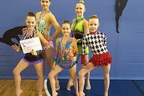 Úspěšné moderní gymnastky Spartaku Přerov