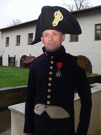 Kamil Maděra velel francouzskému praporu vDřevohosticích zpozice kapitána