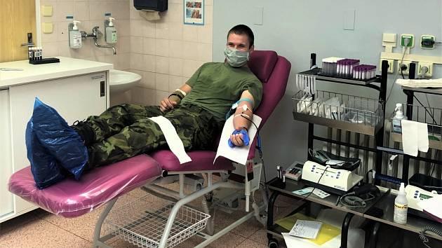 Vojáci z Lipníku nad Bečvou darovali krev.