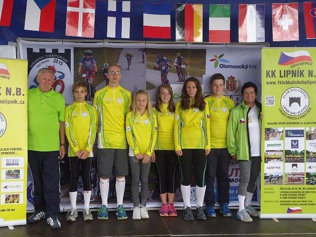 Družstvo KK Lipník nad Bečvou. Mládežnický tým 10–15 let