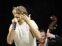 Dan Bárta na koncertu v Přerově