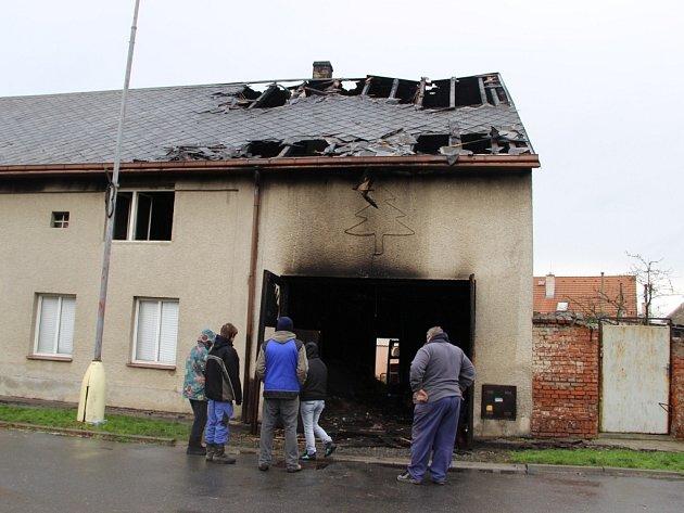 Po požáru rodinného domu v Bochoři