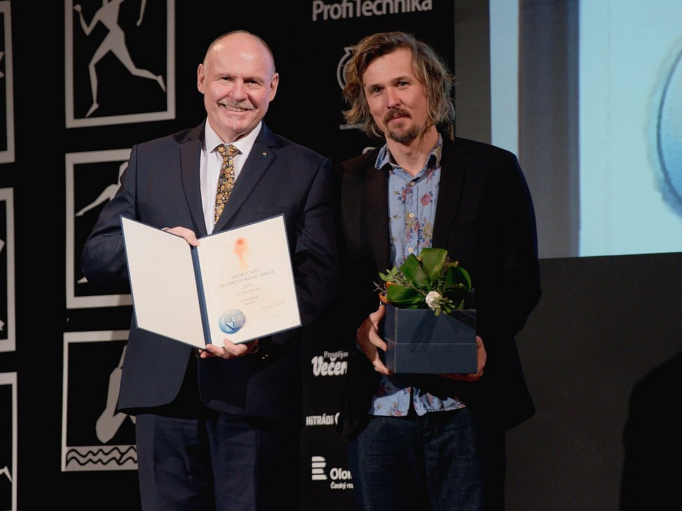 Vyhlášení Sportovce Olomouckého kraje za rok 2019 v Městském domě v Přerově. Ondřej Bank, Cena Olomouckého kraje