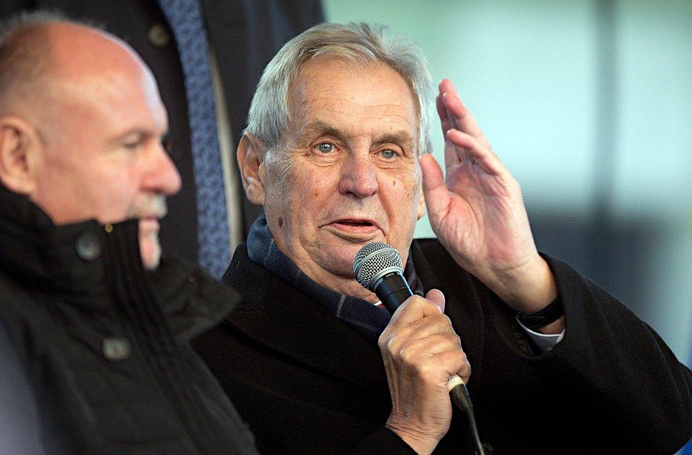 Prezident Miloš Zeman v Přerově