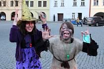 Strašidlácký rej na Horním náměstí v Přerově