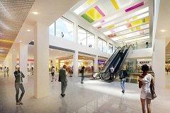 Vizualice nové obchodní galerie v Přerově, která vznikne rekonstrukcí stávajícího Prioru.