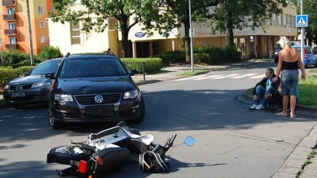 Nehoda v Čechově ulici