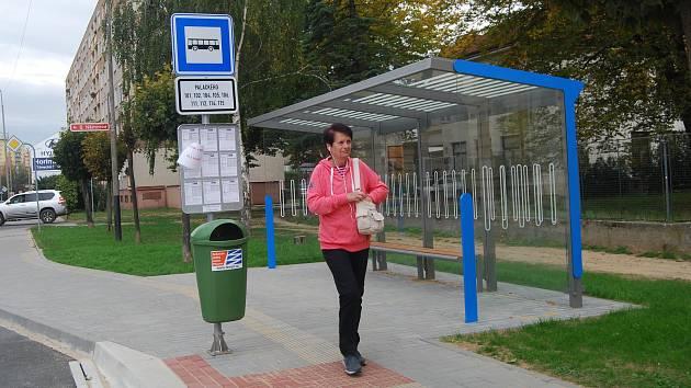 Nová autobusová zastávka v Palackého ulici v Přerově