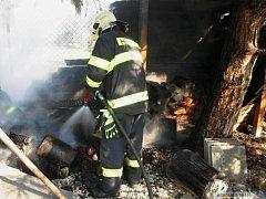 Požár přístřešku v Lipníku